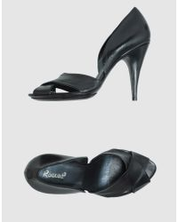 Rocco P | Black High-heeled Sandals | Lyst