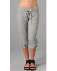 Splendid | Gray Melange Mock Twist Sweatpants | Lyst