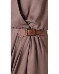 Tibi | Brown Angel Draped Dress | Lyst
