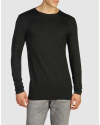 Prada | Black Long Sleeve T-shirt for Men | Lyst