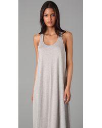 DKNY - Gray Pure Dkny Tank Long Dress - Lyst