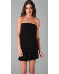 Lacoste - Black The Tube Top Dress - Lyst