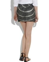 Tory Burch | Gray Florence Tie-dye Leather Skirt | Lyst