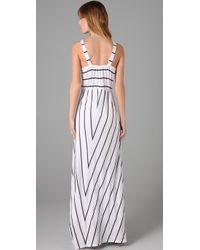 C&C California | White Vine Stripe Empire Striped Maxi | Lyst