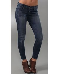 Goldsign | Blue Scene Skinny Crop Jeans | Lyst