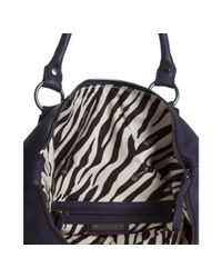 Linea Pelle - Purple Concorde Leather Dylan Folding Convertible Tote - Lyst