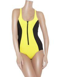 Lisa Marie Fernandez | Yellow The Elisa Zip-front Swimsuit | Lyst