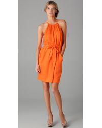 Rebecca Taylor | Orange Snakeskin Cami Dress | Lyst