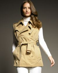 Ralph Lauren | Green Jefferson Trench Vest | Lyst