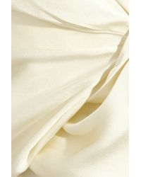 Vivienne Westwood Gold Label - White Opuntia Corseted Satin Gown - Lyst