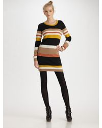 See By Chloé - Black Striped Sweater Dress - Lyst