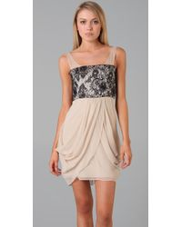 Alice + Olivia - Natural Vivian Lace Bodice Dress - Lyst