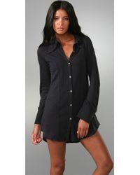 Nightcap - Gray Tuxedo Tunic Dress - Lyst