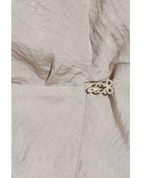 Acne Studios - Brown Darling Layered Hammered-satin Mini Dress - Lyst