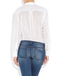 By Malene Birger - White Torine Cotton-gauze Shirt - Lyst