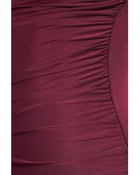 Catherine Malandrino | Purple Asymmetric Ruched Silk-jersey Dress | Lyst