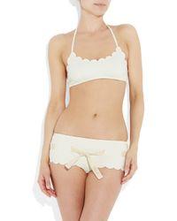 Chloé - White Scalloped Two-piece Bikini - Lyst