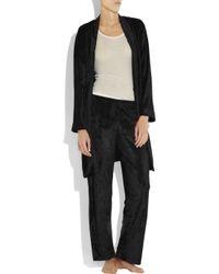 DKNY | Black Evening Muse Crushed-velvet Pants | Lyst