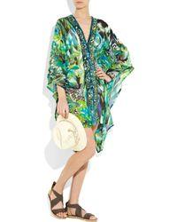 Emamó | Multicolor Giungla Sequin-embellished Silk-chiffon Kaftan | Lyst