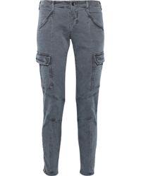 J Brand | Blue Houlihan Low-rise Skinny Cargo Pants | Lyst