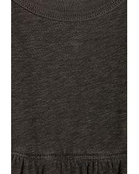 James Perse - Brown Slub Cotton-jersey Maxi Dress - Lyst