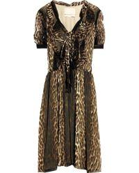 Jason Wu | Multicolor Okal Animal-print Silk-chiffon Dress | Lyst