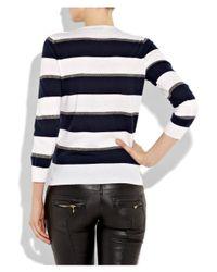 JOSEPH - Blue Sailor Striped Cashmere Sweater - Lyst