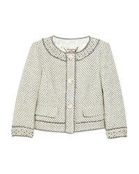 Juicy Couture | Gray Embellished Wool-blend Tweed Jacket | Lyst