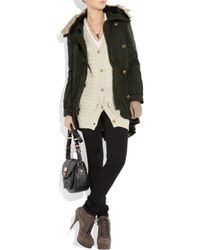 Juicy Couture - Green Faux-fur Trimmed Cotton Parka - Lyst