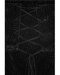 Kimberly Ovitz | Black Camden Corset-embellished Velvet Dress | Lyst