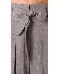 L.A.M.B. - Gray Cross Dye Wide Leg Pants - Lyst