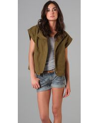 Madewell | Green Short Sleeve Hooded Army Jacket | Lyst
