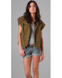 Madewell - Green Short Sleeve Hooded Army Jacket - Lyst