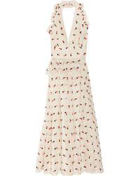 Marc By Marc Jacobs | White Odette Embroidered Silk-organza Dress | Lyst