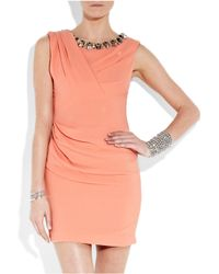 Matthew Williamson | Pink Bead-embellished Crepe Dress | Lyst