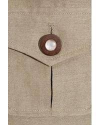 MILLY   Brown Safari Tencel and Linen-blend Wide-leg Pants   Lyst