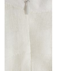 MILLY   White Ksenia Tiered Linen Maxi Dress   Lyst