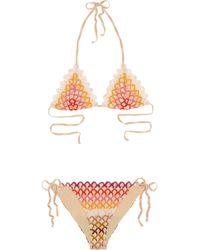 Missoni | Multicolor Bahia Crochet-knit Triangle Bikini | Lyst