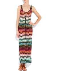 Missoni | White Relaxed Crew Neck Striped Beach Dress | Lyst