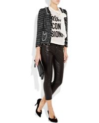 Moschino | Black Chain-trimmed Tweed Jacket | Lyst