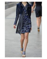Peter Pilotto | Blue Circuit Metallic Brocade Dress | Lyst