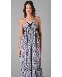 Plastic Island | Blue Garden Of Eden Maxi Dress | Lyst