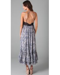 Plastic Island - Blue Garden Of Eden Maxi Dress - Lyst