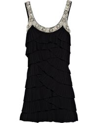 Rachel Gilbert | Black Keisha Embellished Crepe Dress | Lyst