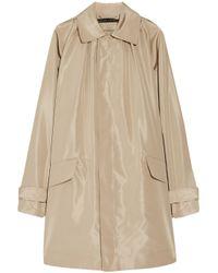 Ralph Lauren Black Label | Natural Devora Silk-faille Trench Coat | Lyst