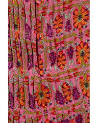 Rebecca Taylor | Multicolor Bombay Floral-print Silk Blouse | Lyst