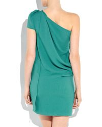Roland Mouret | Green Cascada One-shoulder Stretch-crepe Dress | Lyst