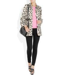 Sonia by Sonia Rykiel - Black Dalmatian-print Cotton-drill Coat - Lyst