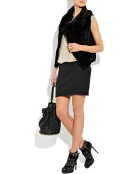 T By Alexander Wang | Black High-waisted Mini Skirt | Lyst
