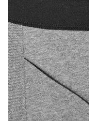T By Alexander Wang | Gray Slubby French Cotton Rib-paneled Track Pants | Lyst
